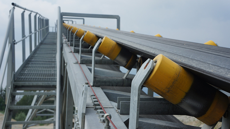 Testing of conveyor belt idlers
